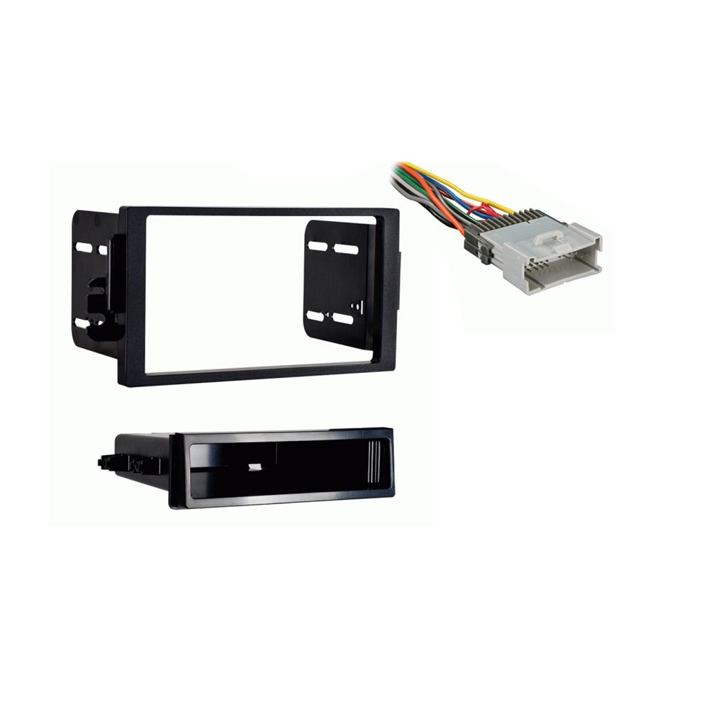 Saturn L Series 2000 2001 2002 2003 2004 2005 Single DIN Stereo Harness Radio Install Dash Kit Package