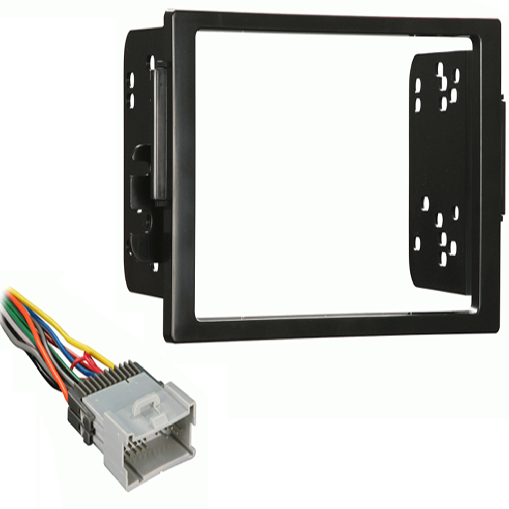Saturn L Series 2000 2001 2002 2003 2004 2005 Double DIN Stereo Harness Radio Install Dash Kit Package