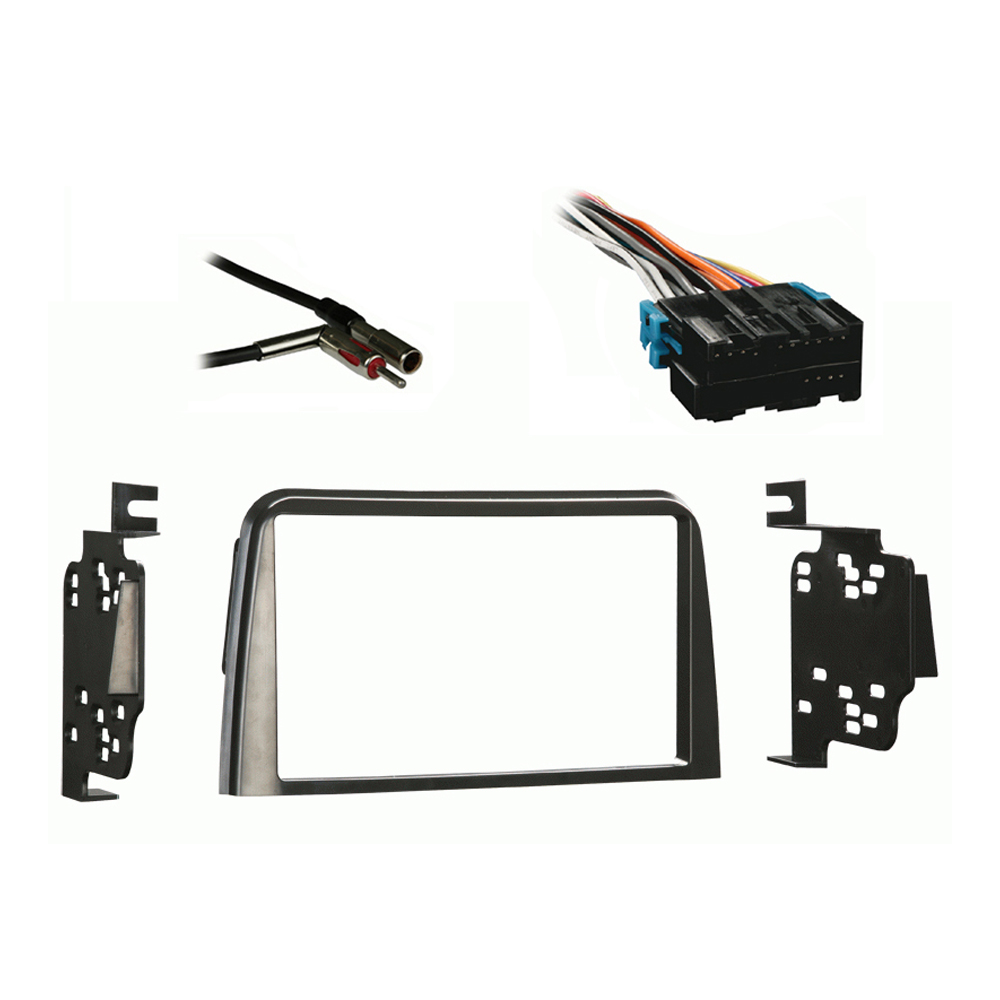 Saturn Saturn 1995 1996 1997 1998 1999  Double DIN Stereo Harness Radio Install Dash Kit Package