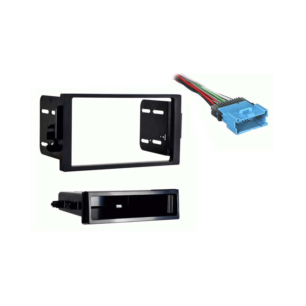 Saturn Vue 2004 2005 Single DIN Stereo Harness Radio Install Dash Kit Package