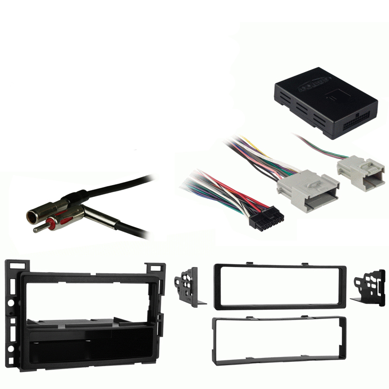 Saturn Vue 2006-2007 Single DIN Stereo Harness Radio Install Dash Kit Package
