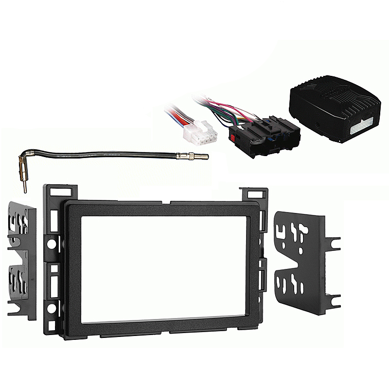 Saturn Vue 2006-2007 Double DIN Stereo Harness Radio Install Dash Kit Package