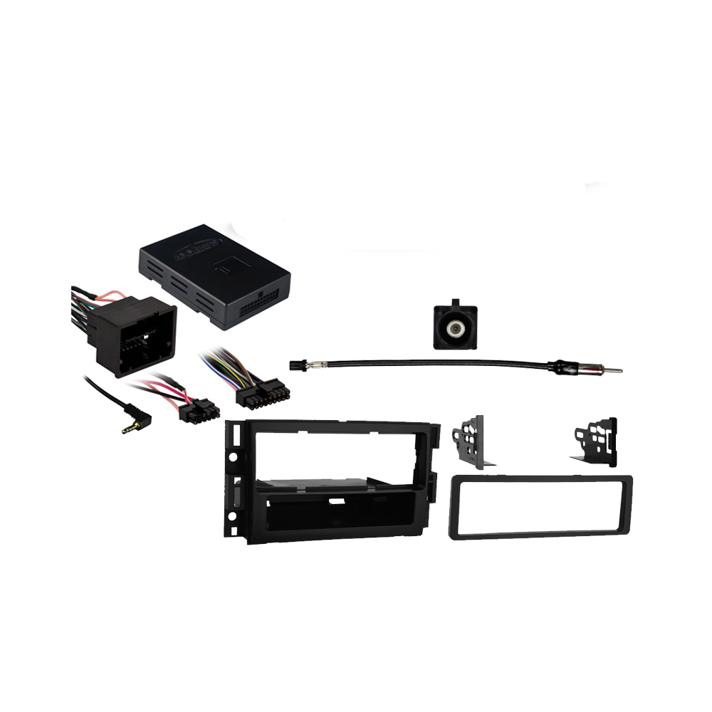 Saturn Vue 2008 2009 2010 Single DIN Stereo Harness Radio Install Dash Kit Package