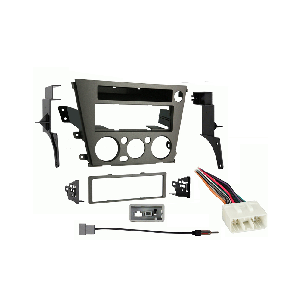 Subaru Outback 2005 2006 2007 2008 2009  without Auto Climate Single DIN Stereo Harness Radio Dash Kit