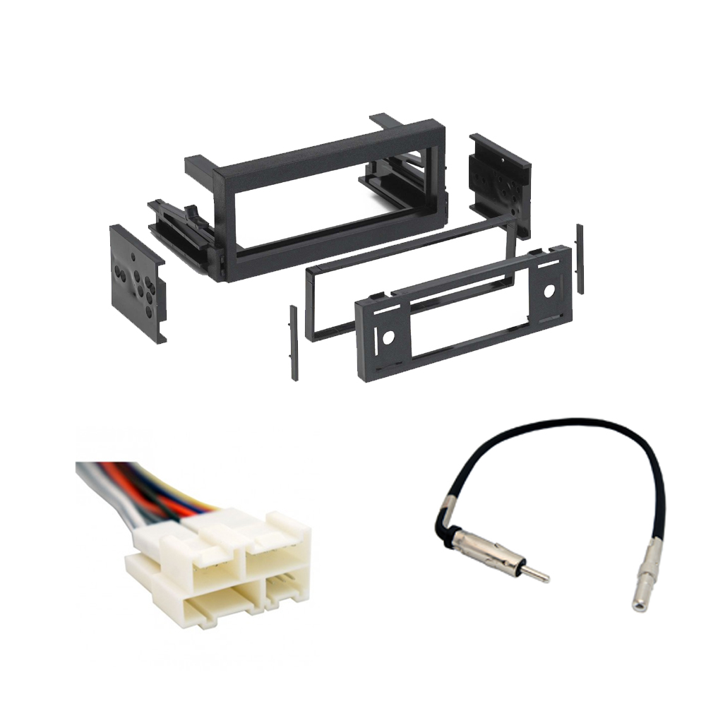 Chevy Avalanche 2002 Single DIN Stereo Harness Radio Install Dash Kit Package