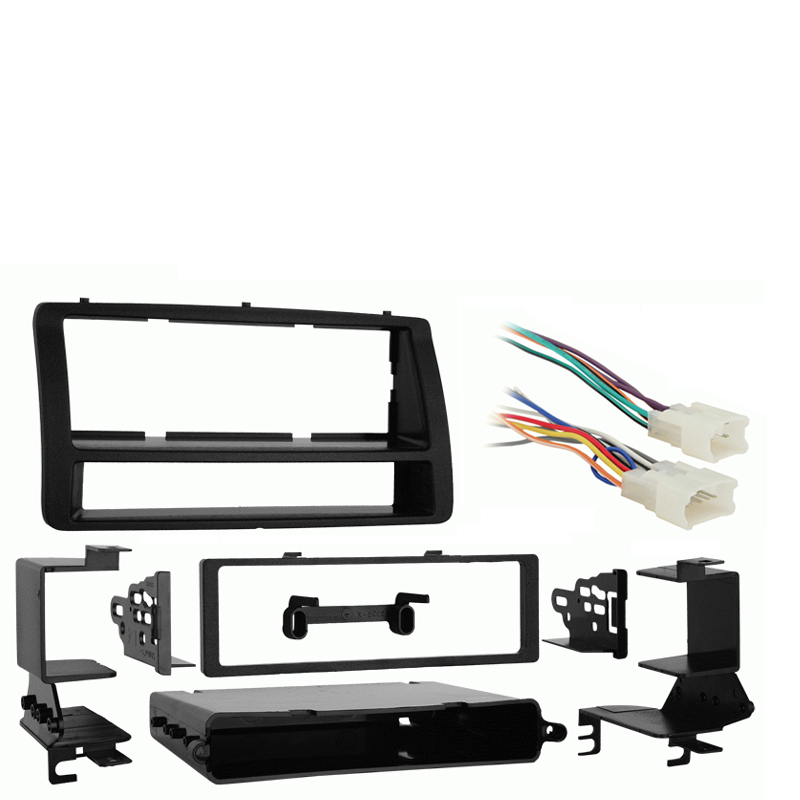 Toyota Corolla 2003-2008 Single DIN Stereo Harness Radio Install Dash Kit