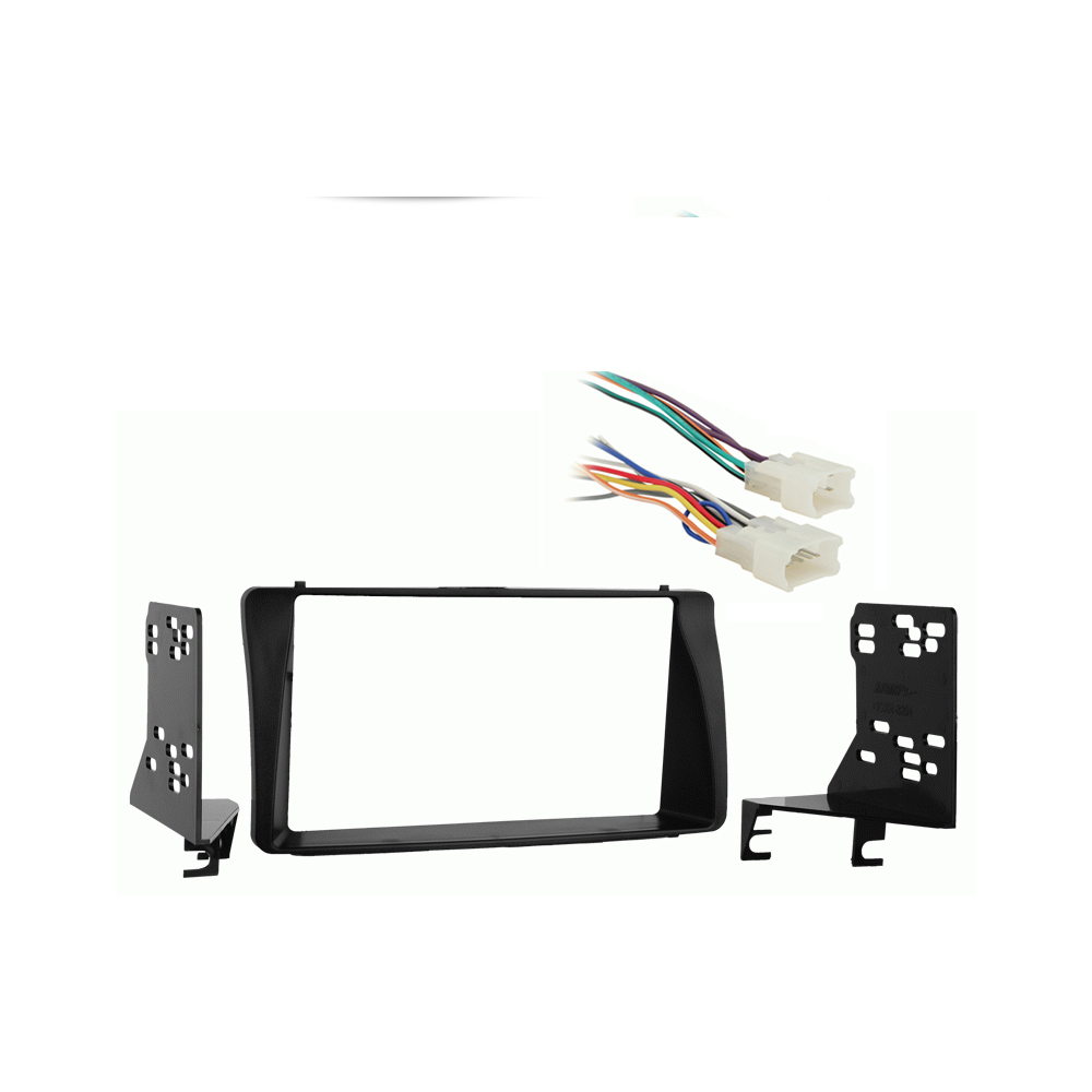 Toyota Corolla 2003-2008 Double DIN Stereo Harness Radio Install Dash Kit