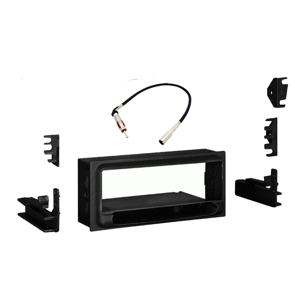 Chevy Blazer 1998 1999 2000 2001 Single DIN Stereo Harness Radio Install Dash Kit Package