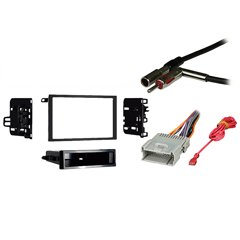 Chevy Blazer 2003-2005 Double DIN Stereo Harness Radio Install Dash Kit Package