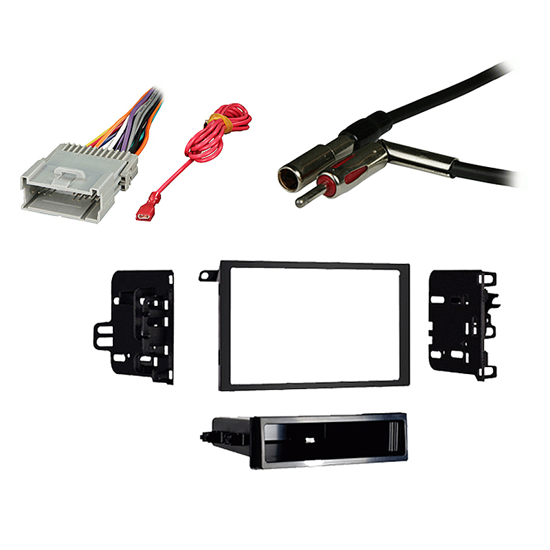 Chevy Blazer 2002 w  Factory Double DIN Car Radio Stereo Harness Dash Kit