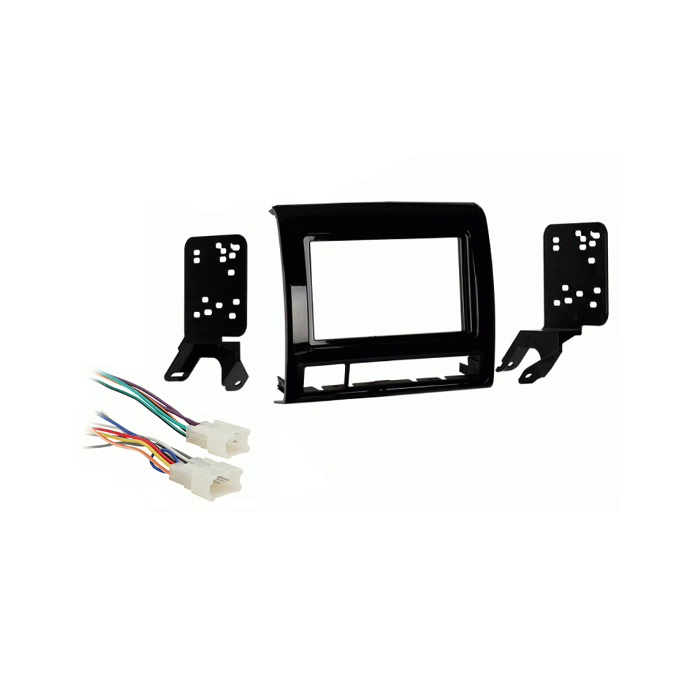 Toyota Tacoma 12-15 Double DIN Car Stereo Harness Radio Dash Kit - Matte Black