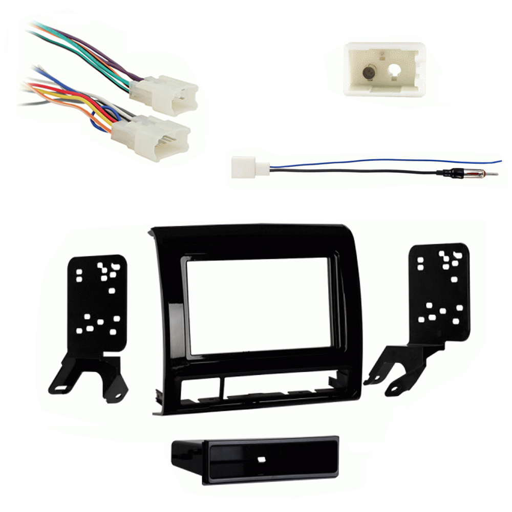 Toyota Tacoma 13-14 Single DIN Stereo Harness Radio Dash Kit - Matte Black