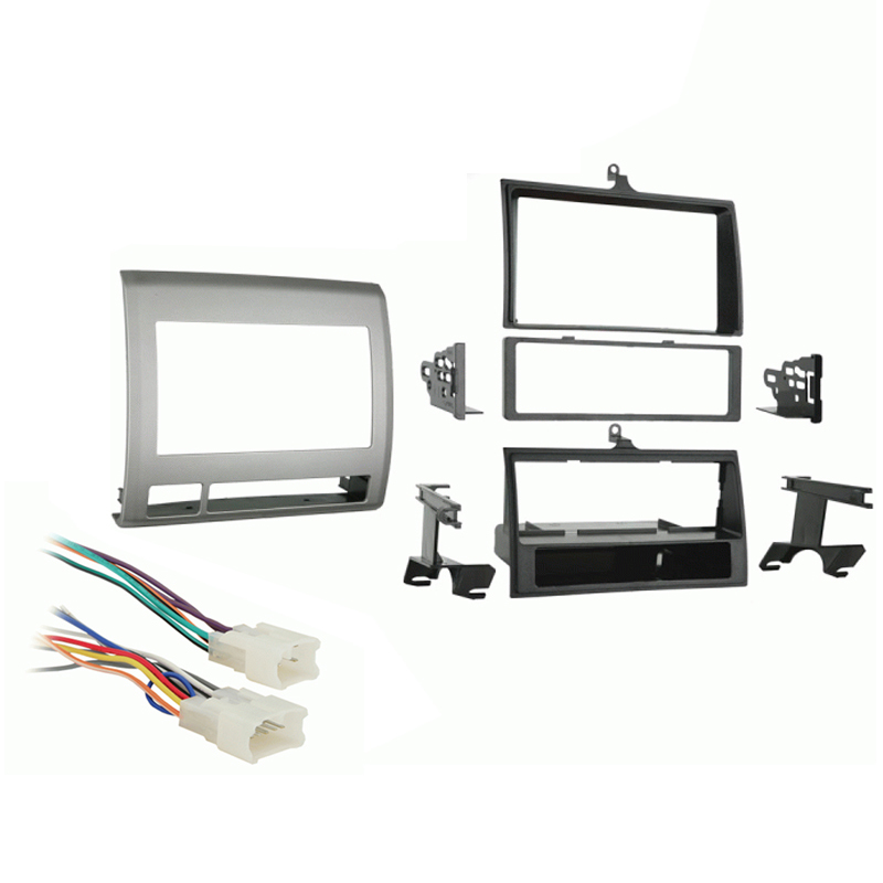 Toyota Tacoma 2005 2006 2007 2008 2009 2010 2011  Single DIN Car Stereo Harness Radio Dash Kit   Grey
