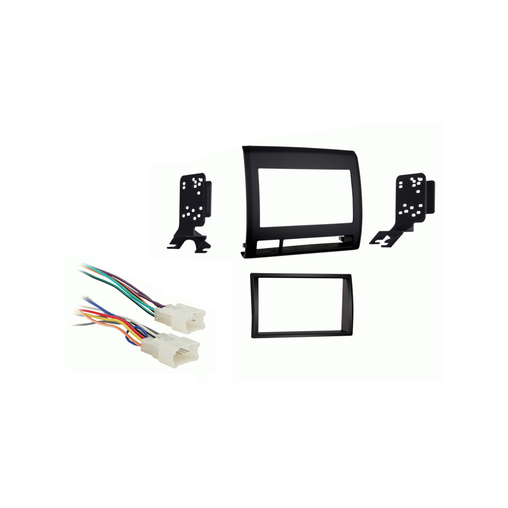 Toyota Tacoma 2005 2006 2007 2008 2009 2010 2011  Double DIN Car Stereo Harness Radio Dash Kit   Black