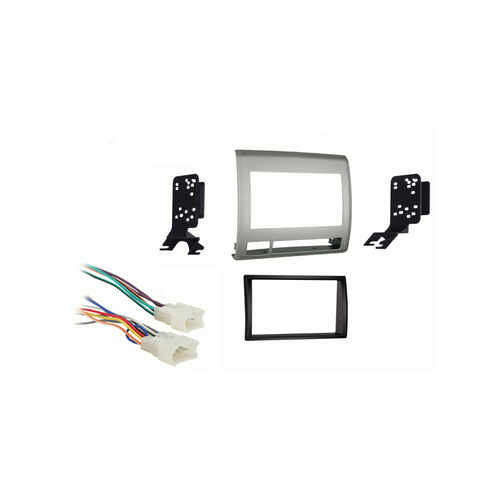 Toyota Tacoma 2005 2006 2007 2008 2009 2010 2011  Double DIN Car Stereo Harness Radio Dash Kit   Grey