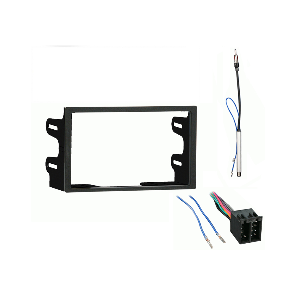 Volkswagen Golf 99-02 Double DIN Stereo Harness Radio Install Dash Kit Package
