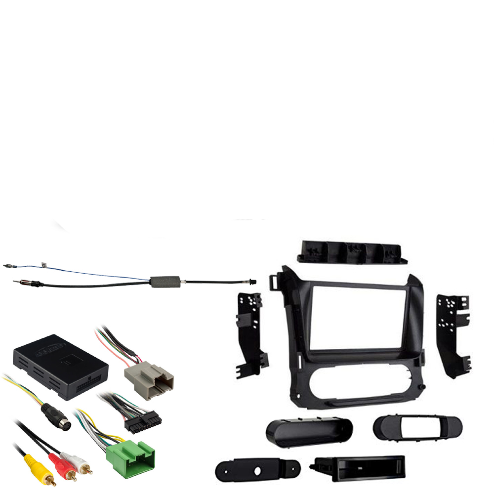 GMC Canyon 2015 2016 2017 2018 Single or Double DIN Stereo Harness Radio Install Dash Kit