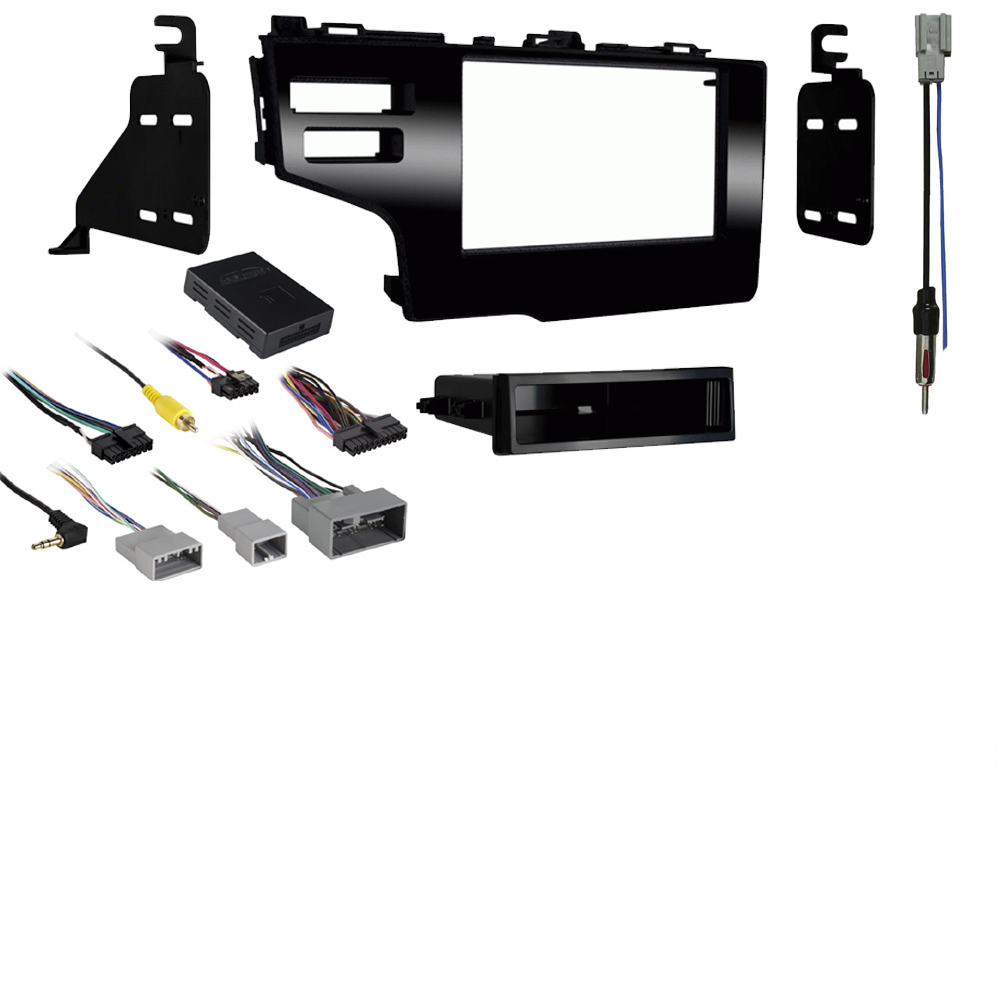 Honda Fit 2015 2016 2017 Single or Double DIN Stereo Harness Radio Install Dash Kit