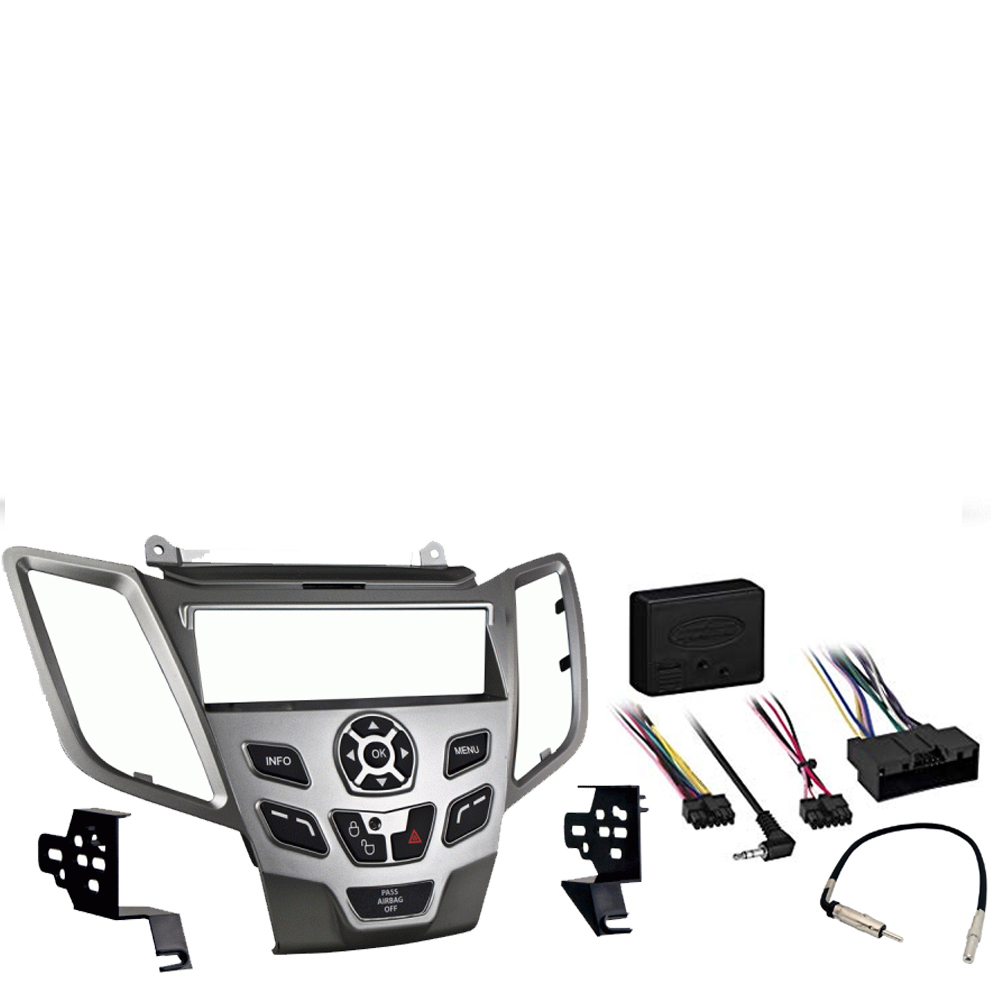 Details about Ford Fiesta 2014-2015 Single DIN Stereo Harness Radio Install  Dash Kit Silver