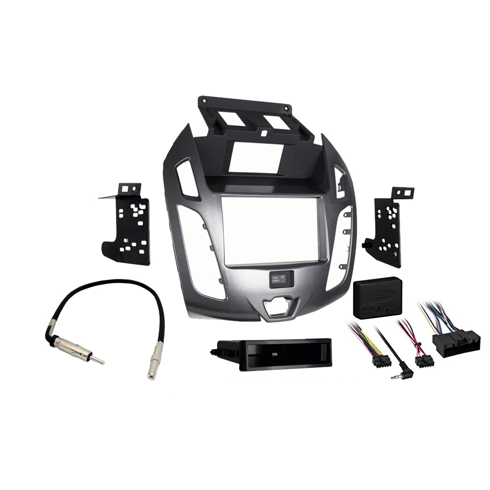 Ford Transit Connect 2014 2015 2016  Stereo Radio Install Dash Kit Gray Package New