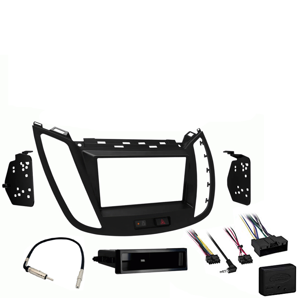 Ford Escape 2013 2014 2015 2016 2017 2018 2019  Single or Double DIN Stereo Harness Radio Install Dash Kit