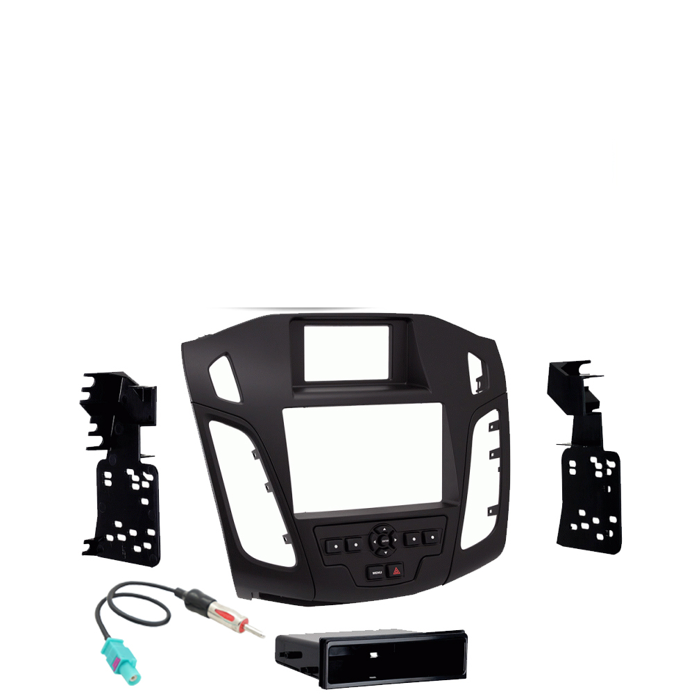 Ford Focus 2015 217 Single or Double DIN Stereo Harness Radio Install Dash Kit