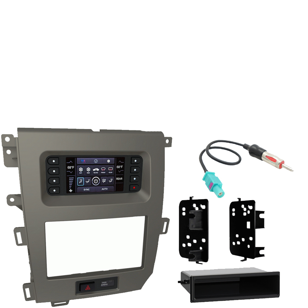 Ford Edge 2011 2012 2013 2014 Single or Double DIN Stereo Harness Radio Install Dash Kit