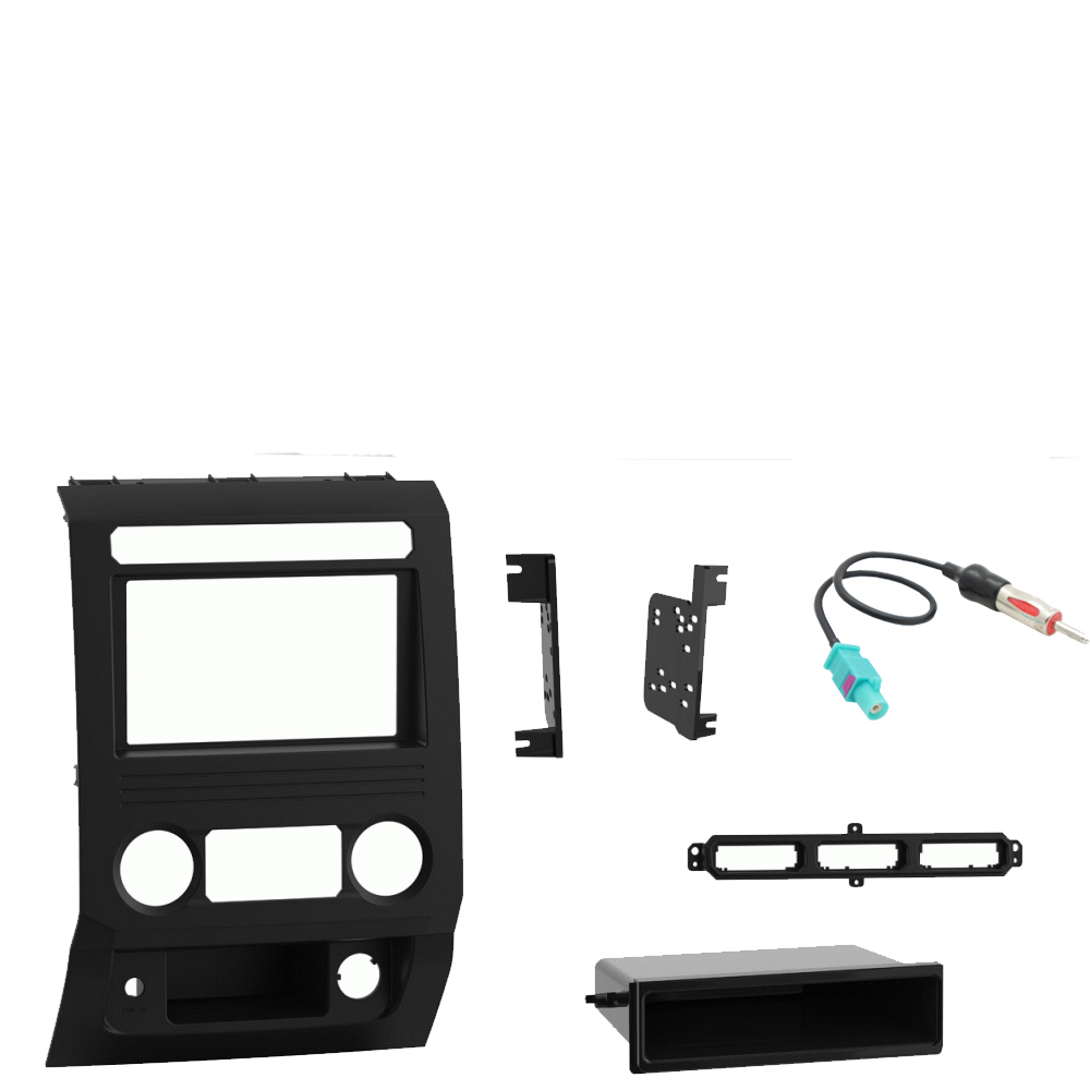 Ford F 250 350 450 550 2018 Single or Double DIN Stereo Radio Install Dash Kit