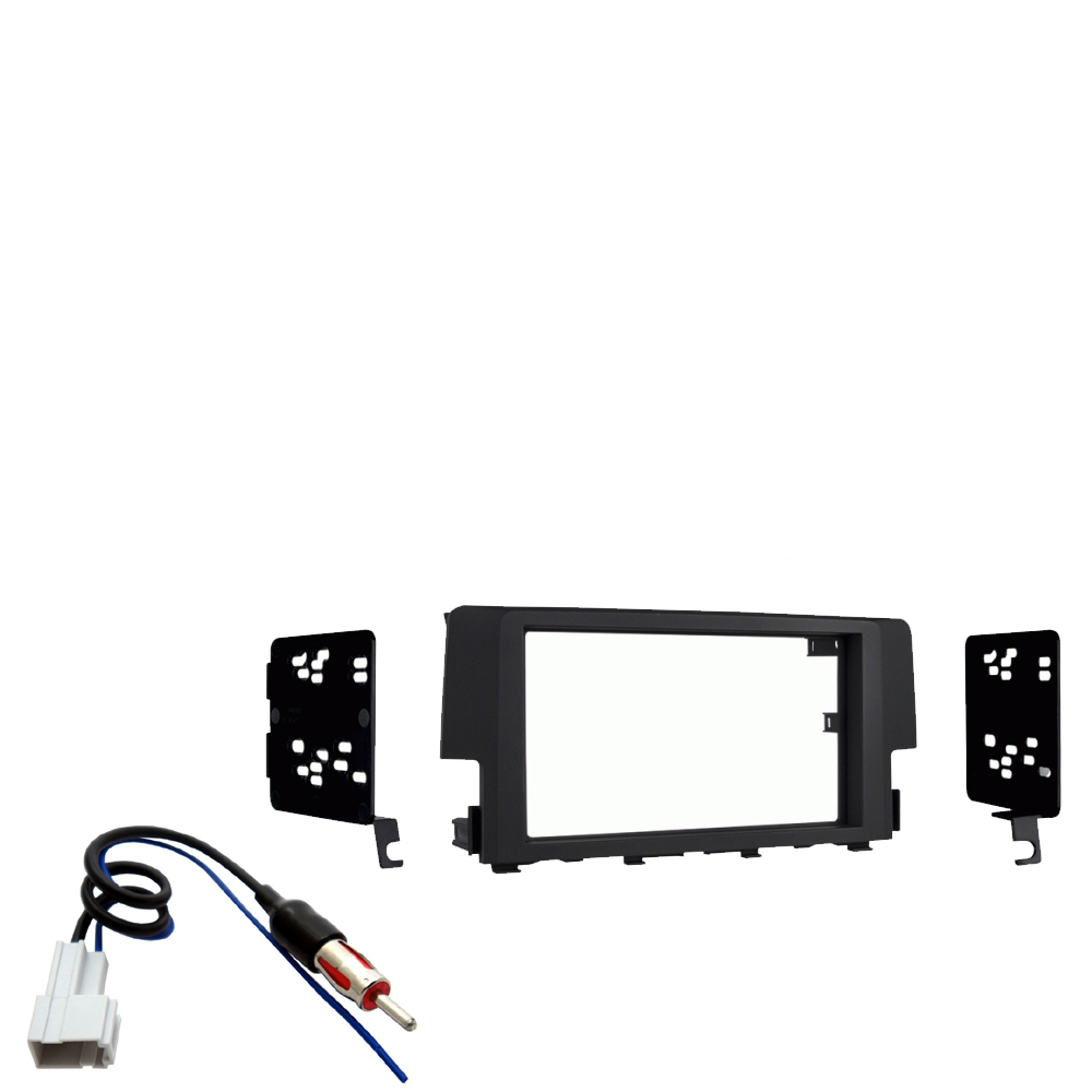 Honda Civic 2016 2019 Factory Speaker Upgrade Package: Honda Civic 2019 Double DIN Stereo Harness Radio Install