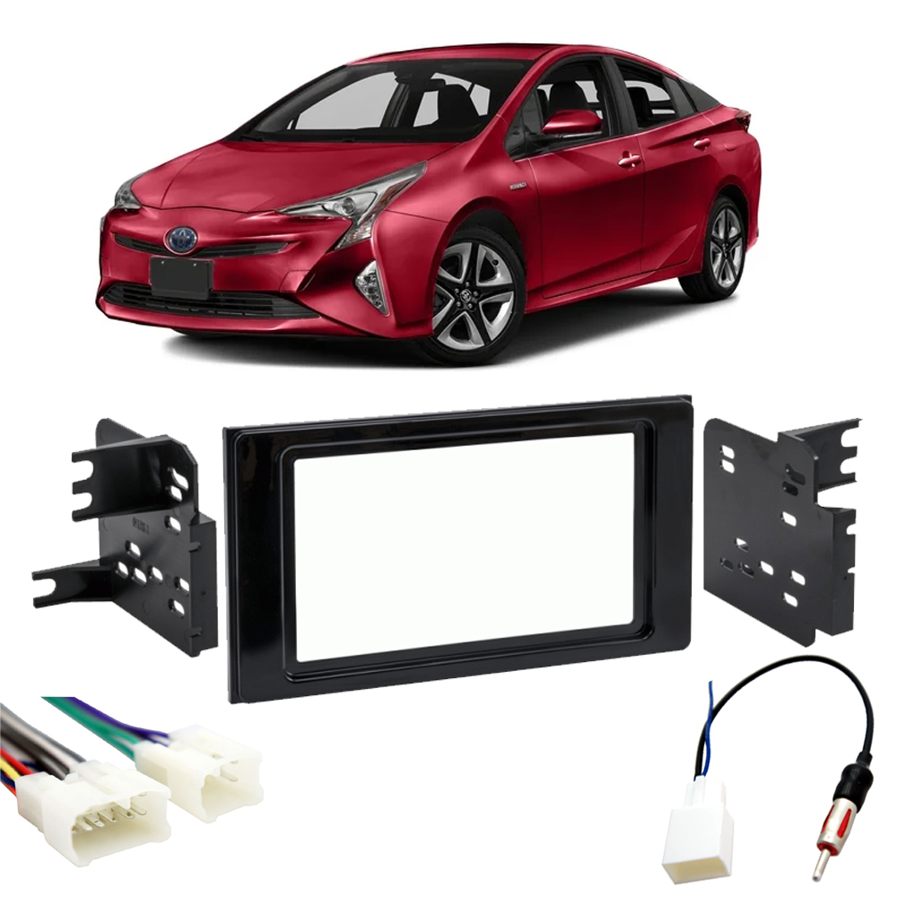 Toyota Prius 2016-2018 Double DIN Stereo Harness Radio Install Dash Kit Package