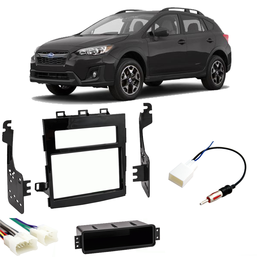 Fits Subaru Crosstrek 2018 Double DIN Stereo Harness Radio Install Kit Package