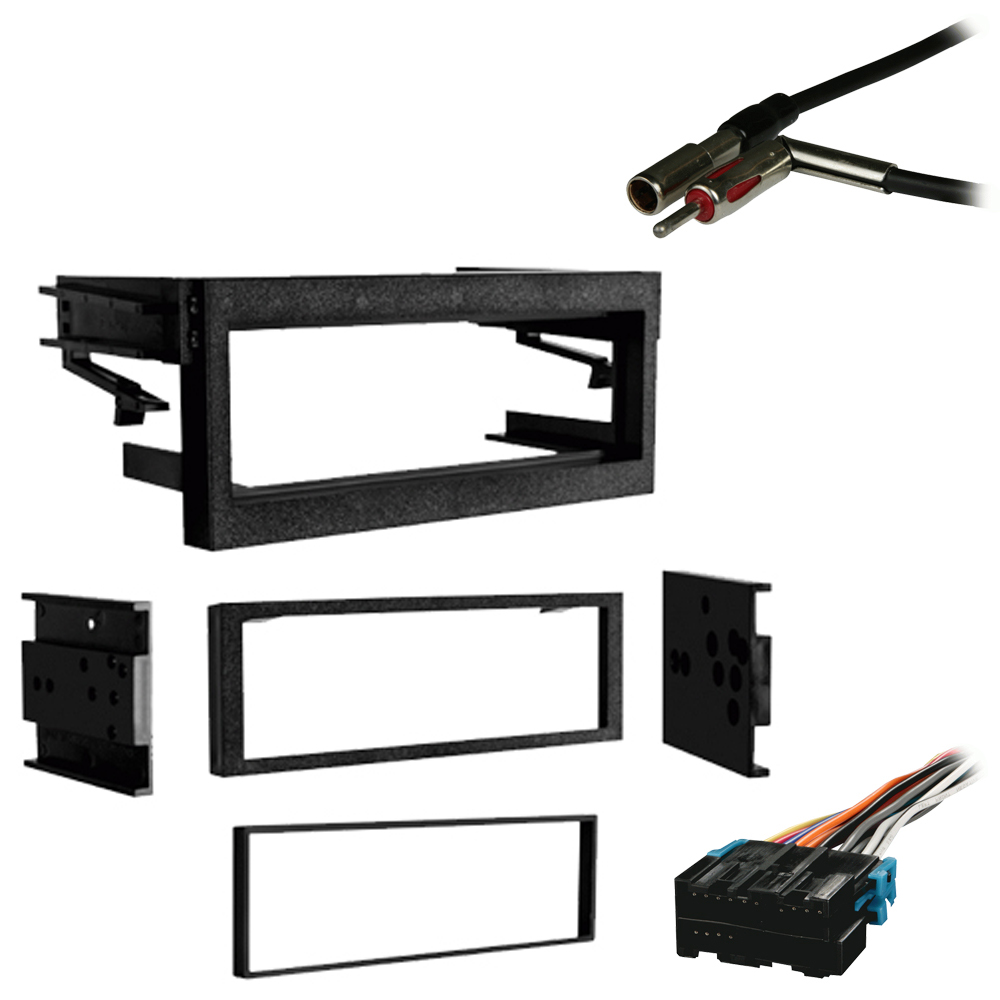 Chevy CK Pickup 1995 1996 1997 1998 1999 2000 Single DIN Stereo Harness Radio Install Dash Kit Package