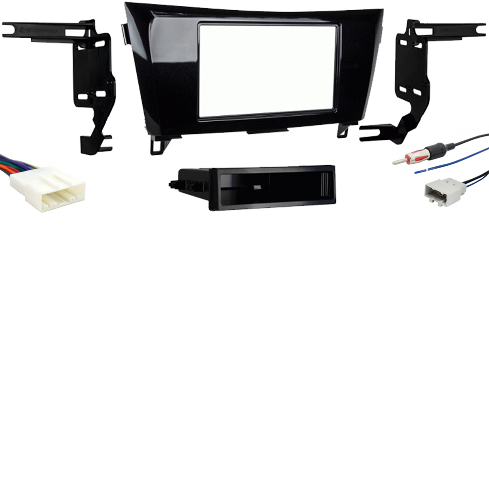 Fits Nissan Rogue 2014 2015 2016 2017 2018 Single or Double DIN Stereo Radio Install Dash Kit