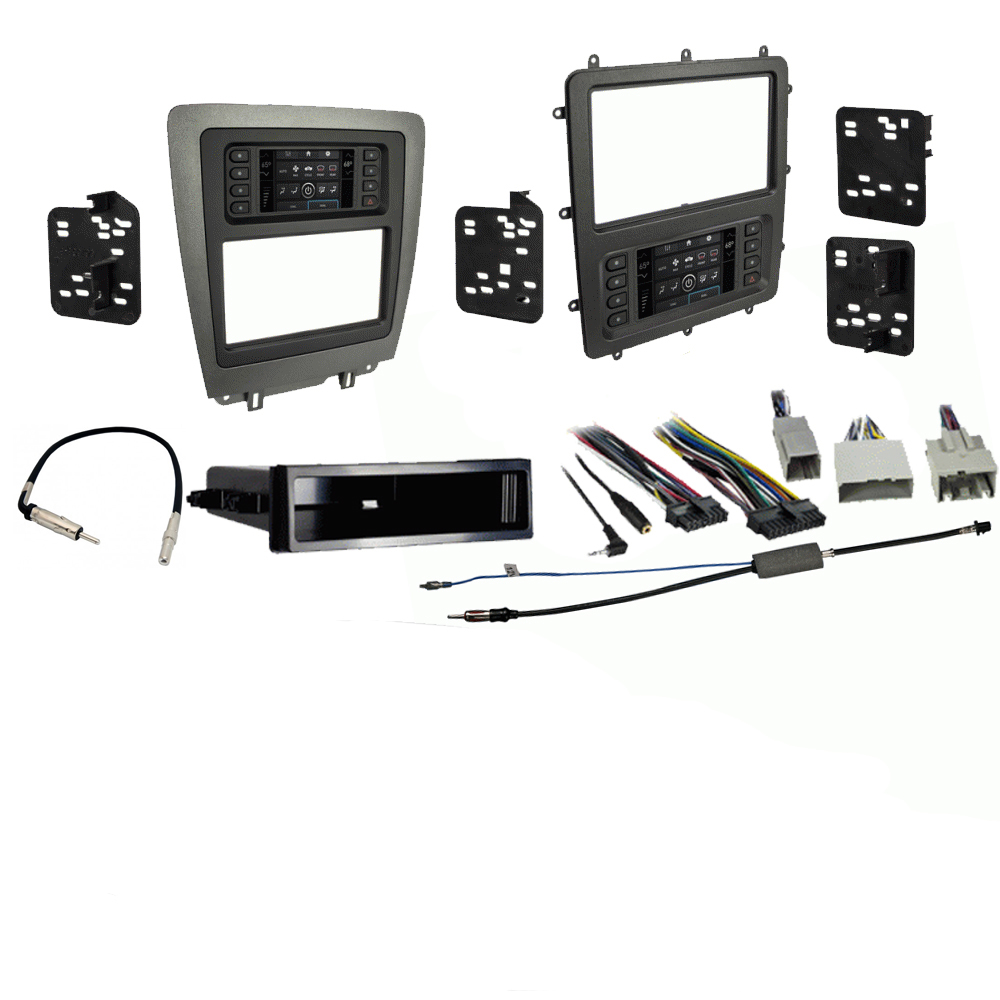Ford  Mustang 2010 2011 2012 2013 2014  Double DIN Stereo Harness Radio Install Dash Kit Package