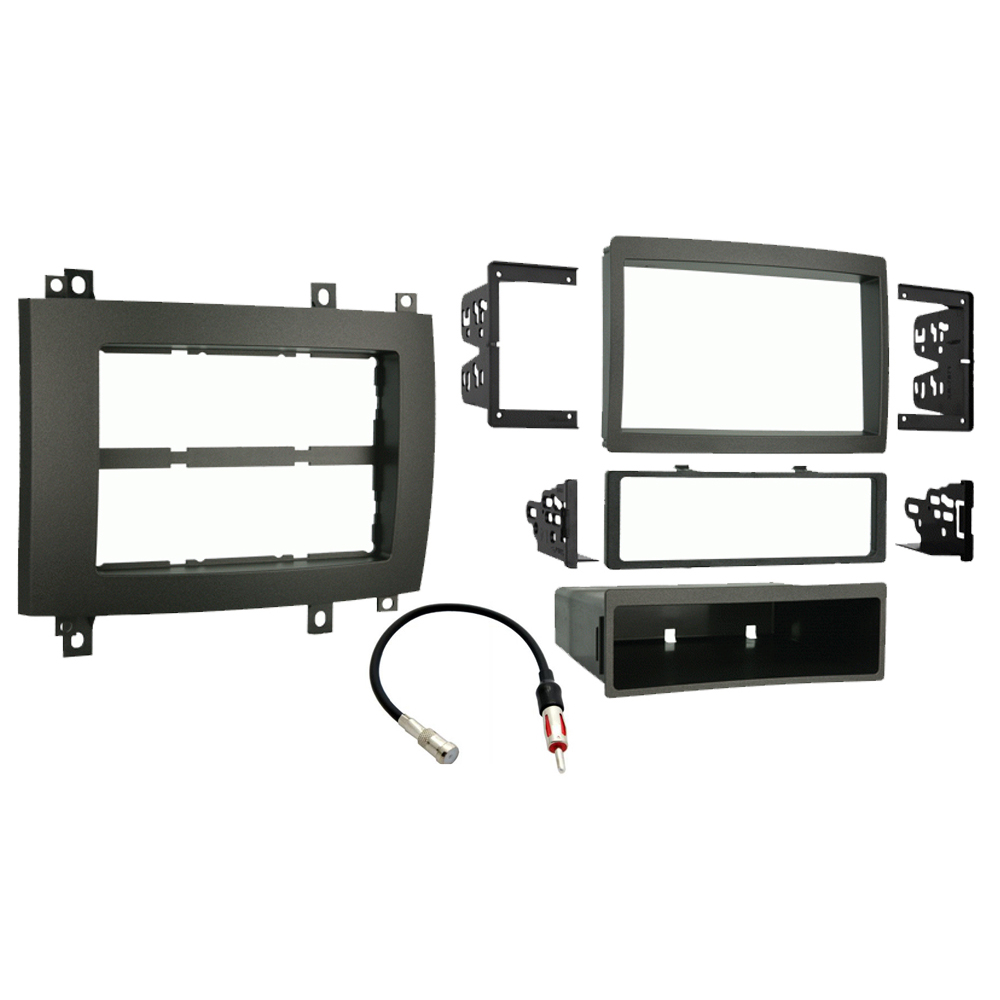 Cadillac CTS 2003 2004 2005 2006 2007 Single or Double DIN Stereo Radio Install Dash Kit Gray