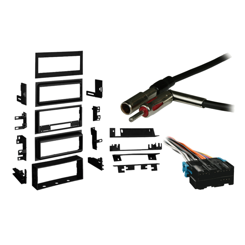 Chevy Corsica 1991-1996 Single DIN Stereo Harness Radio Install Dash Kit Package