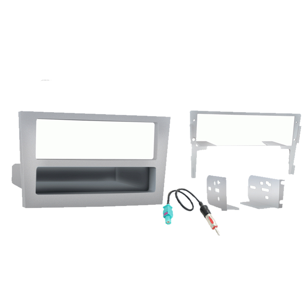 Saturn Astra 2008 2009 Single or Double DIN Stereo Radio Install Dash Kit Silver