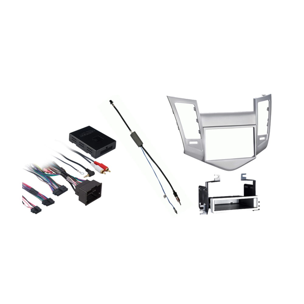 Metra 99-3011S Single//Double DIN Dash Installation Kit for 2011-Up Chevy Cruz Vehicles