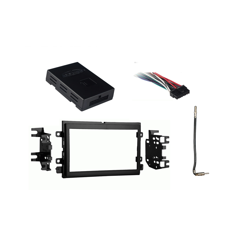 details about ford expedition 2007-2015 double din stereo harness radio  install dash kit new