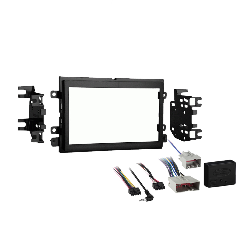 Ford F 650 F 750 2016 2017 2018 Double DIN Stereo Radio Install Dash Kit w  SYNC