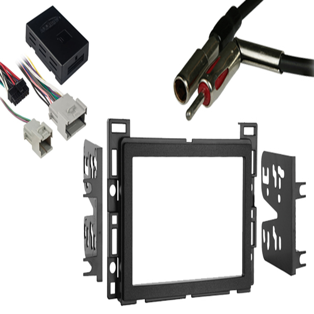 Chevy Equinox 2005 2006 Double DIN Stereo Harness Radio Install Dash Kit Package