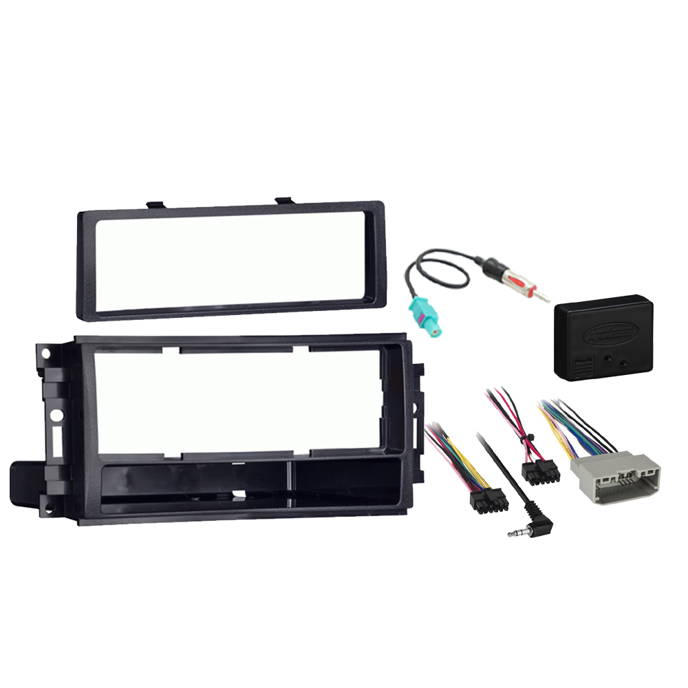 Dodge Caliber 2009-2012 Single DIN Stereo Harness Radio Install Dash Kit Package