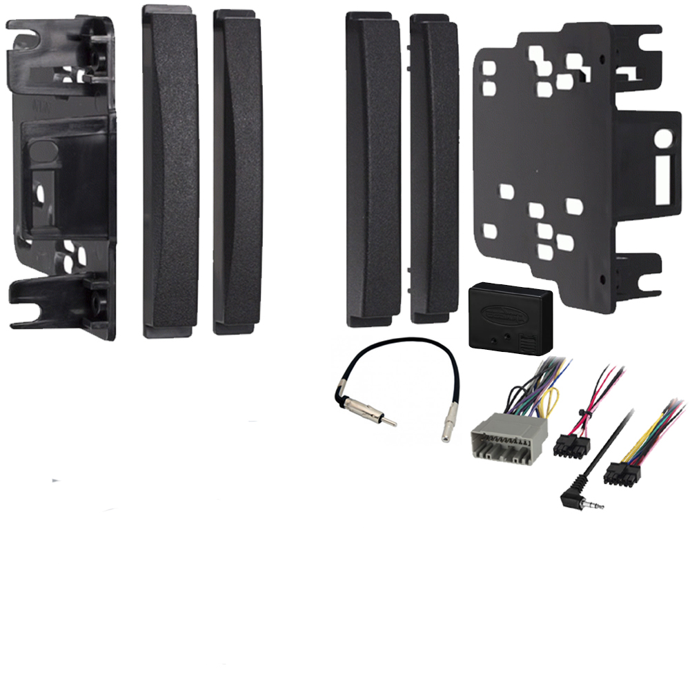 Dodge Caliber 2009-2012 Double DIN Stereo Harness Radio Install Dash Kit Package