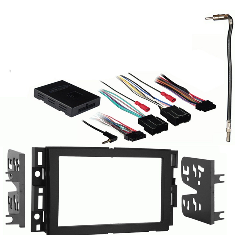 Chevy Equinox 2007-2009 Double DIN Stereo Harness Radio Install Dash Kit Package