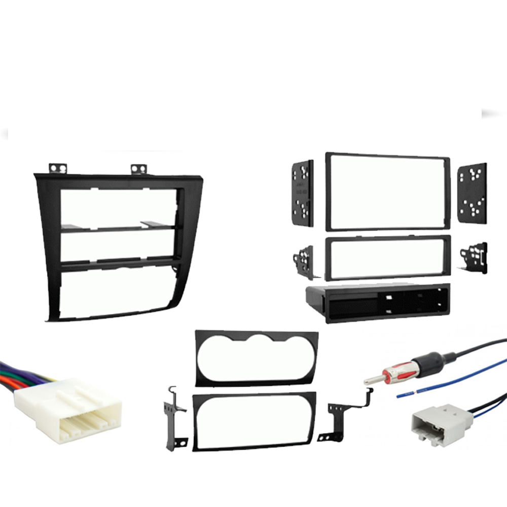Fits Nissan Altima 2007 2008 2009 2010 2011 2012 Single or Double DIN Stereo Radio Install Dash Kit