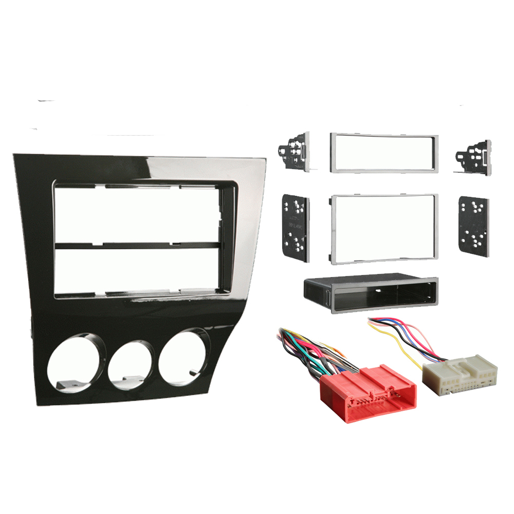 Mazda RX-8 2009-2011 Single or Double DIN Stereo Harness Radio Install Dash Kit