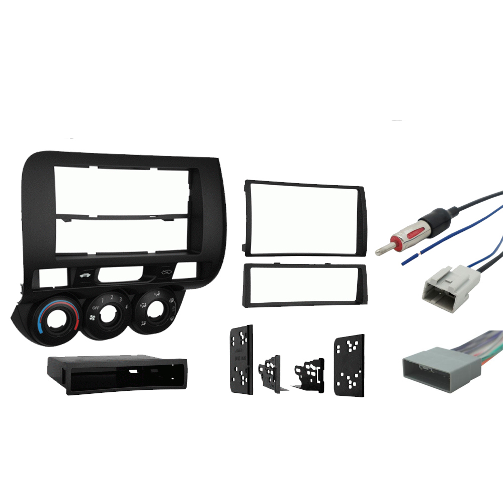 Honda Fit 2007 2008 Single or Double DIN Stereo Harness Radio Install Dash Kit
