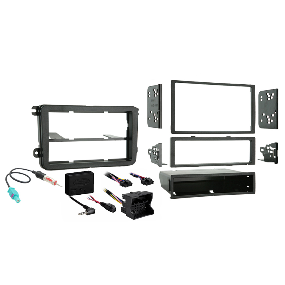 Volkswagen Beetle 2012 2013 2014 2015 Single or Double DIN Stereo Radio Install Dash Kit