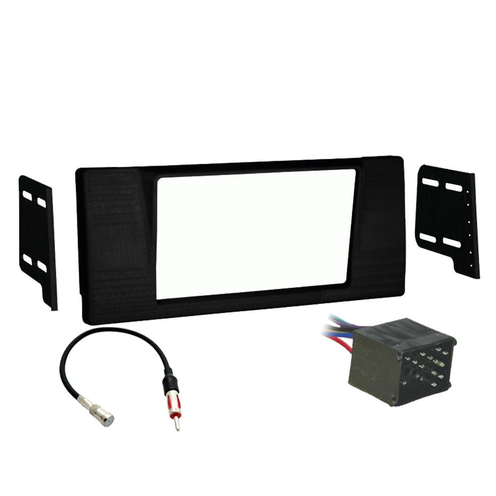 BMW 5 Series 1997-2000 Double DIN Stereo Harness Radio Install Dash Kit Package
