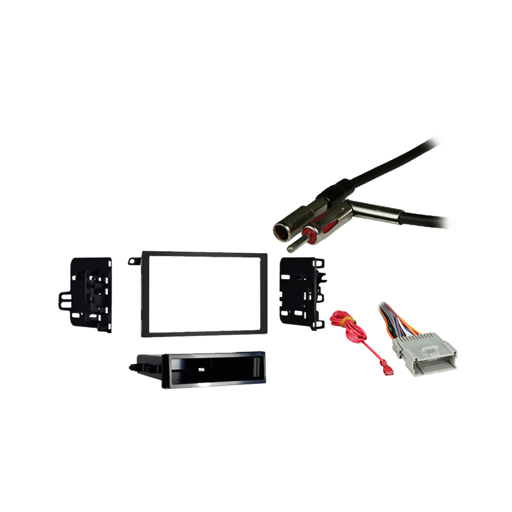 Chevy Express Van 2001 2002 Double DIN Stereo Harness Radio Install Dash Kit Package